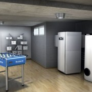 Buderus Luft-Wasser-Wärmepumpe Logatherm WPL IK/I mit Warmwasserspeicher