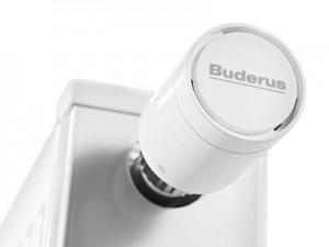 Buderus Logatrend VC profil mit Thermostatkopf Detail