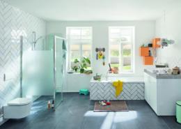 Ein Bad für die ganze Familie mit cleverer Raumaufteilung.