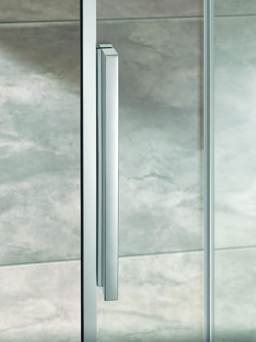 HSK Duschkabine - ergonomisch eleganter Riegelgriff