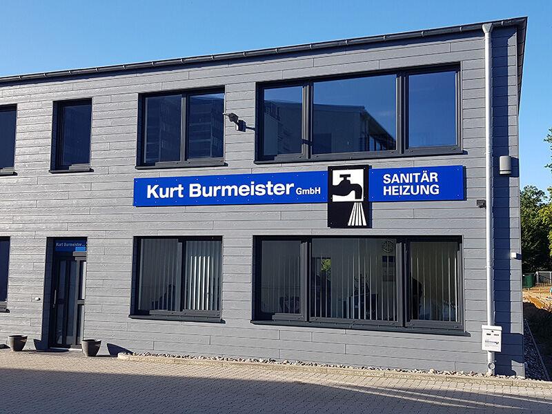Das Firmengebäude von Kurt Burmeister in Kronshagen