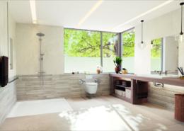 Ein altersgerechtes Bad bietet ausreichend Platz ohne Barrieren.